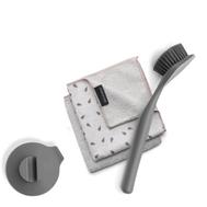 Brabantia Подарочный набор: Щетка для мытья посуды с держателем на присоске + 2 чистящих салфетки из микрофибры - арт.PNB53, фото 1