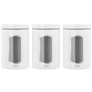 Brabantia Набор контейнеров для сыпучих продуктов с окном (1,4 л), 3 шт., Белый  - арт.306068, фото 1