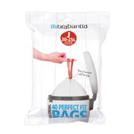 Brabantia Мешки для мусора PerfectFit, размер J (23 л), упаковка-диспенсер, 40 шт.  - арт.115608, фото 1