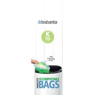 Brabantia Биоразлагаемые мешки для мусора PerfectFit, размер К (10 л), 10 шт.  - арт.364983, фото 1