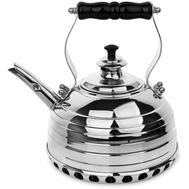 Чайник для газовой плиты Richmond, эдвардианской ручной работы, медь с хромированной отделкой, 1.7л - арт.RICHMOND NO.11, фото 1