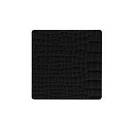 LINDDNA 9898 CROCO black Подстаканник из натуральной кожи квадратный 10x10 см, толщина 2мм, фото 1