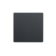 LINDDNA 98354 BULL black Подстаканник из натуральной кожи квадратный 10x10 см, толщина 2мм, фото 1
