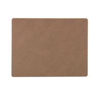 LINDDNA 981172 NUPO brown Подстановочная салфетка из натуральной кожи прямоугольная 35x45 см, толщина 1,6 мм, фото 1