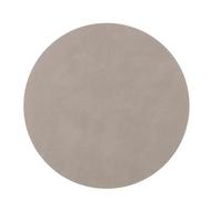 LINDDNA 981174 NUPO light grey Подстановочная салфетка из натуральной кожи круглая, диаметр 30 см, толщина 1,6 мм, фото 1