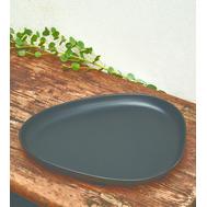 LINDDNA 990164 Тарелка сервировочная (35х30х3см) каменная керамика, черный, фото 1