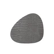 LINDDNA 9885 CROCO silver-black Подстаканник из натуральной кожи фигурный 11x13 см, толщина 2мм, фото 1