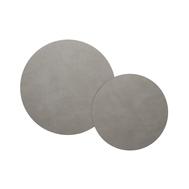 LINDDNA 982967 CLOUD light grey Подставка под горячее из переработанной кожи круглая, диаметр 24/30 см, набор 2шт, фото 1