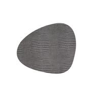 LINDDNA 98287 CROCO silver-black Подстановочная салфетка из натуральной кожи фигурная 37x44 см, толщина 2мм, фото 1