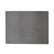 LINDDNA 98327 CROCO silver-black Подстановочная салфетка из натуральной кожи прямоугольная 35x45 см, толщина 2мм, фото 1
