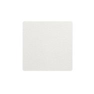 LINDDNA 98355 BULL white Подстаканник из натуральной кожи квадратный 10x10 см, толщина 2мм, фото 1