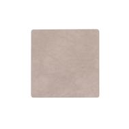 LINDDNA 990240 NUPO nomad grey Подстаканник из натуральной кожи квадратный 10х10 см, толщина 1,6мм, фото 1