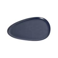 LINDDNA 990170 Тарелка сервировочная (35х30х3см) каменная керамика, темно-синий, фото 1