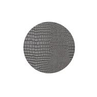 LINDDNA 98143 CROCO silver-black Подстаканник из натуральной кожи круглый, диаметр 10 см, толщина 2мм, фото 1