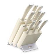 Набор ножей Wusthof Classic Ikon Cream White, 9 предметов, подставка из бука, кованая нержавеющая сталь, Золинген, Германия - арт., фото 1