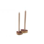 LINDDNA 981763 NUPO red подсвечник для высоких свечей, фигурный 8х10х2,5см, набор 2шт, фото 1