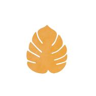 LINDDNA 990083 NUPO burned curry Подстаканник из натуральной кожи лист монстеры 14х12 см, толщина 1,6мм, фото 1