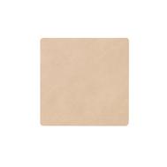 LINDDNA 981187 NUPO sand Подстаканник из натуральной кожи квадратный 10x10 см, толщина 1,6 мм, фото 1