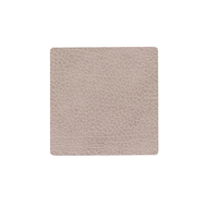 LINDDNA 990264 BULL warm grey Подстаканник из натуральной кожи квадратный 10x10 см, толщина 2мм, фото 1