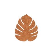 LINDDNA 990080 HIPPO nature Подстаканник из натуральной кожи лист монстеры 14х12 см, толщина 1,6мм, фото 1