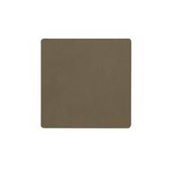 LINDDNA 982496 NUPO army green Подстаканник из натуральной кожи квадратный 10x10 см, толщина 1,6 мм, фото 1