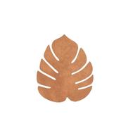 LINDDNA 990077 NUPO nature Подстаканник из натуральной кожи лист монстеры 14х12 см, толщина 1,6мм, фото 1