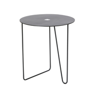 LINDDNA 990116 Bull black/brown журнальный столик Turntable с круглой столешницей 42х38см, фото 1