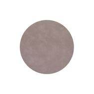 LINDDNA 990237 NUPO nomad grey Подстановочная салфетка из натуральной кожи круглая, диаметр 30 см, толщина 1,6 мм, фото 1