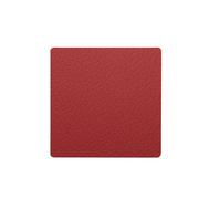 LINDDNA 98359 BULL red Подстаканник из натуральной кожи квадратный 10x10 см, толщина 2мм, фото 1