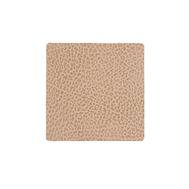 LINDDNA 981313 HIPPO sand Подстаканник из натуральной кожи квадратный 10x10 см, толщина 1,6 мм, фото 1
