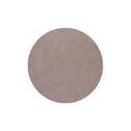 LINDDNA 990261 BULL warm grey Подстановочная салфетка из натуральной кожи круглая, диаметр 30 см, толщина 2мм, фото 1