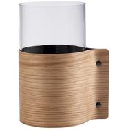 LINDDNA 87054 Ваза для цветов с деревянной отделкой 15х25см, дуб, фото 1