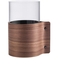 LINDDNA 87055 Ваза для цветов с деревянной отделкой 7,5х15см, орех, фото 1