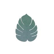 LINDDNA 989961 HIPPO pastel green Подстаканник из натуральной кожи лист монстеры 14х12 см, толщина 1,6мм, фото 1