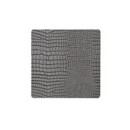 LINDDNA 9899 CROCO silver-black Подстаканник из натуральной кожи квадратный 10x10 см, толщина 2мм, фото 1