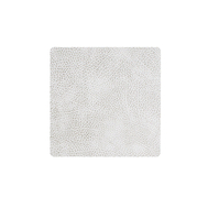 LINDDNA 98926 HIPPO white-grey Подстаканник из натуральной кожи квадратный 10x10 см, толщина 1,6 мм, фото 1