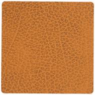 LINDDNA 981086 HIPPO curry Подстаканник из натуральной кожи квадратный 10x10 см, толщина 1,6 мм, фото 1