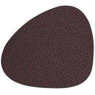 LINDDNA 981098 HIPPO plum Подстаканник из натуральной кожи фигурный 11x13 см, толщина 1,6 мм, фото 1
