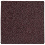 LINDDNA 981099 HIPPO plum Подстаканник из натуральной кожи квадратный 10x10 см, толщина 1,6 мм, фото 1