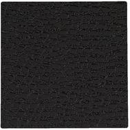 LINDDNA 98111 LACE black Подстаканник из натуральной кожи квадратный 10x10 см, толщина 1,6мм, фото 1