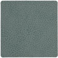 LINDDNA 981125 HIPPO pastel green Подстаканник из натуральной кожи квадратный 10x10 см, толщина 1,6 мм, фото 1