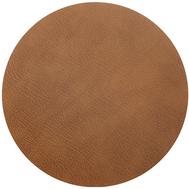 LINDDNA 98114 BULL nature Подставка под горячее из переработанной кожи, круглая диаметр 24 см, фото 1