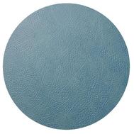 LINDDNA 981155 HIPPO light blue Подстановочная салфетка из натуральной кожи круглая, диаметр 40 см, толщина 1,6 мм, фото 1