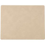 LINDDNA 981171 NUPO sand Подстановочная салфетка из натуральной кожи прямоугольная 35x45 см, толщина 1,6 мм, фото 1