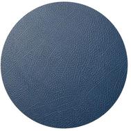 LINDDNA 981264 HIPPO navy blue Подстановочная салфетка из натуральной кожи круглая, диаметр 40 см, толщина 1,6 мм, фото 1
