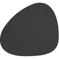 LINDDNA 981286 HIPPO black-anthracite Подстаканник из натуральной кожи фигурный 11x13 см, толщина 1,6 мм, фото 1