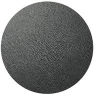 LINDDNA 981290 HIPPO black-anthracite Подстановочная салфетка из натуральной кожи круглая, диаметр 40 см, толщина 1,6 мм, фото 1