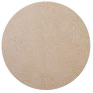 LINDDNA 981315 HIPPO sand Подстановочная салфетка из натуральной кожи круглая, диаметр 24 см, толщина 1,6 мм, фото 1
