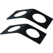 LINDDNA 981416 HIPPO black-anthracite Кольцо для салфетки из кожи 6х14см, набор 2шт, фото 1