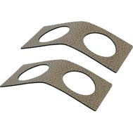 LINDDNA 981512 HIPPO sand Кольцо для салфетки из кожи 6х14см, набор 2шт, фото 1